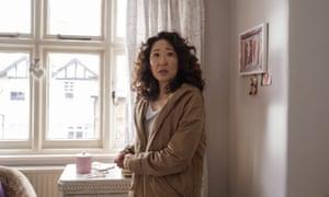 Sandra Oh in a scene from Killing Eve.