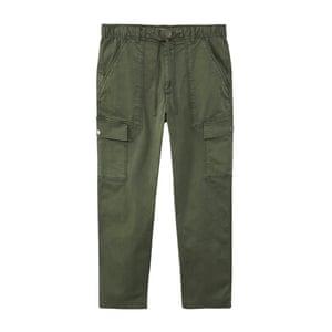 khaki cargo trousers Mango