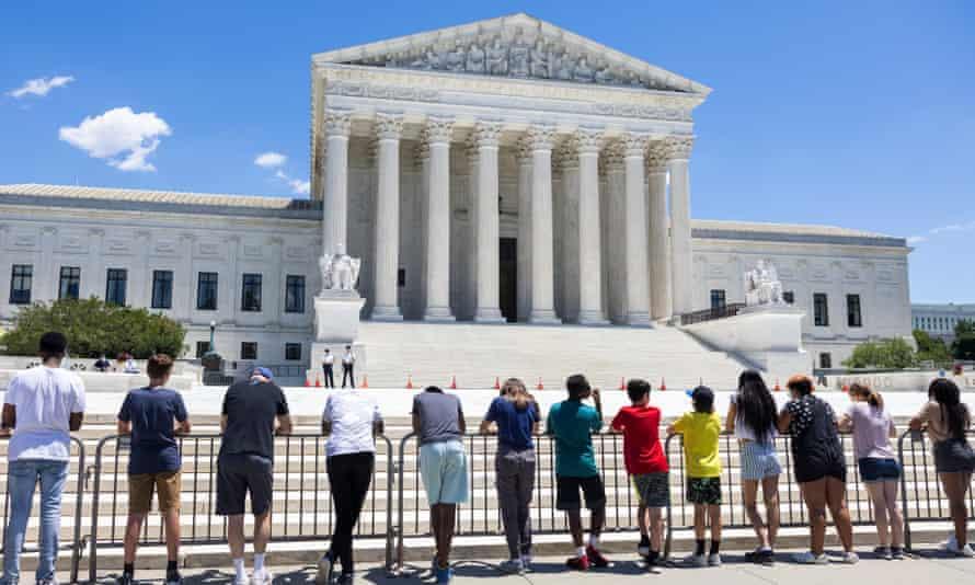 Anti-abortion protestors outside the US supreme court in June.