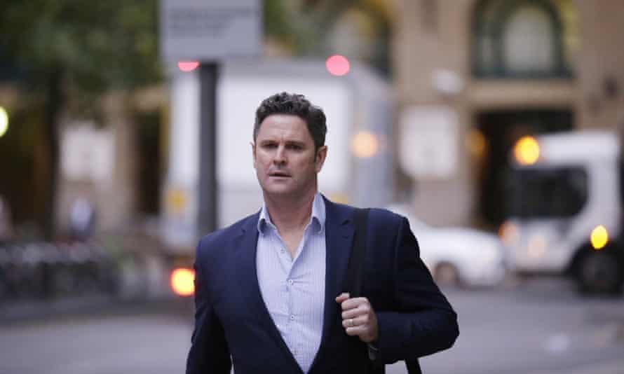 New Zealand batsman Chris Cairns arrives at court