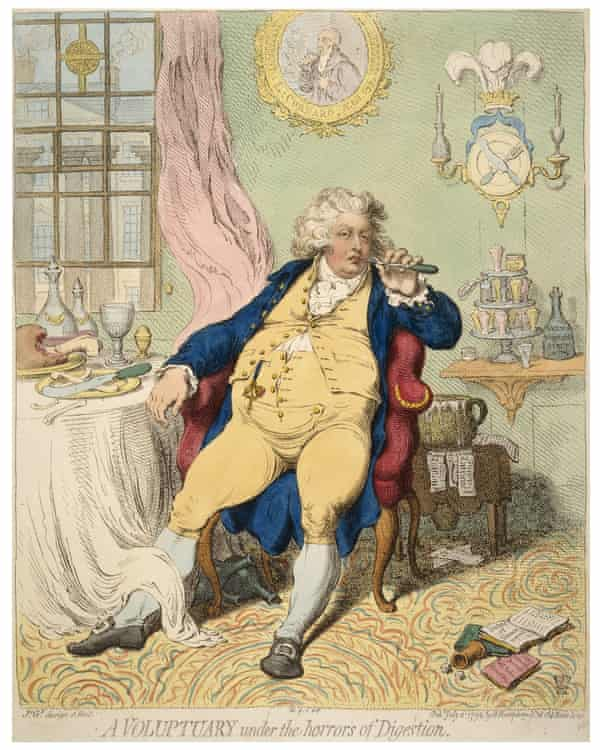 James Gillray (1756–1815), A Voluptuary under the horrors of Digestion, UK, 1792
