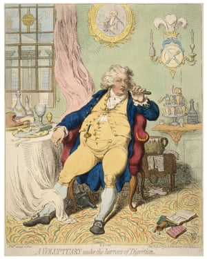 James Gillray's A Voluptuary under the horrors of Digestion, 1792.