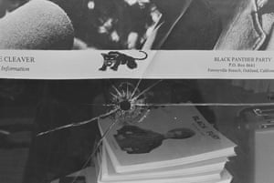 Ruth-Marion Baruch, Bullet Hole in plate glass window of Black Panther party National Headquarters, Oakland, California, No 1 from A Photographic Essay on the Black Panthers