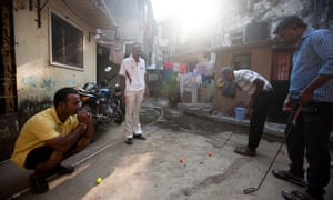 Many of the slum golfers are also caddies, and dream of turning pro.