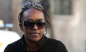 Fiona Onasanya arrives at court for the hearing.