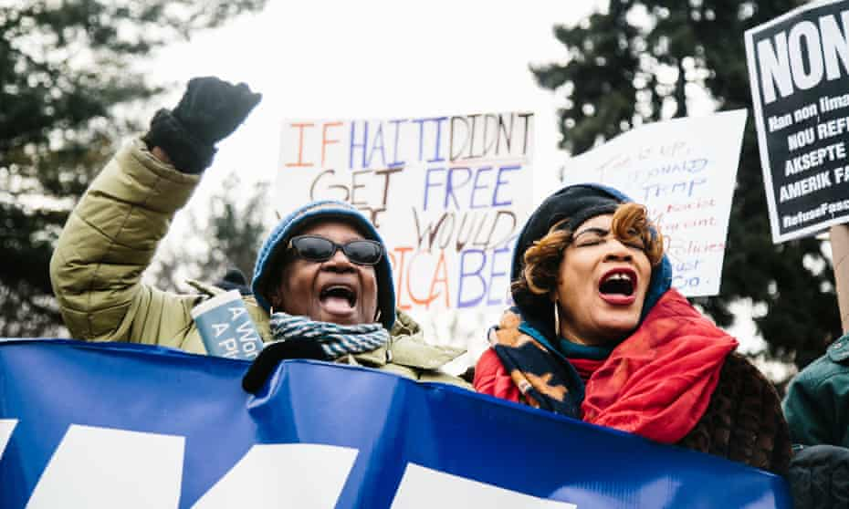 Protesters march against racism in New York on Friday.