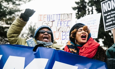 There were protests after Donald Trump's decision to terminate temporary protected status for immigrants from Haiti and other places he described as 'shithole countries'.