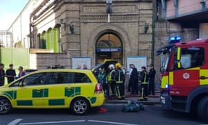 Emergency services at Parsons Green underground station