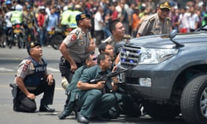 Australian travellers in Indonesia have been warned to exercise a 'high degree of caution' after a series of blasts hit Jakarta in January.