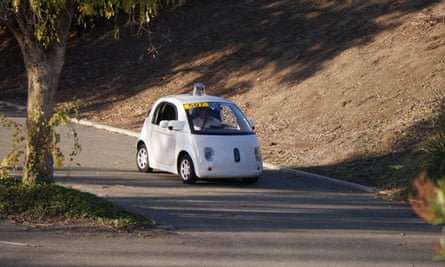 Google's self-driving car being tested