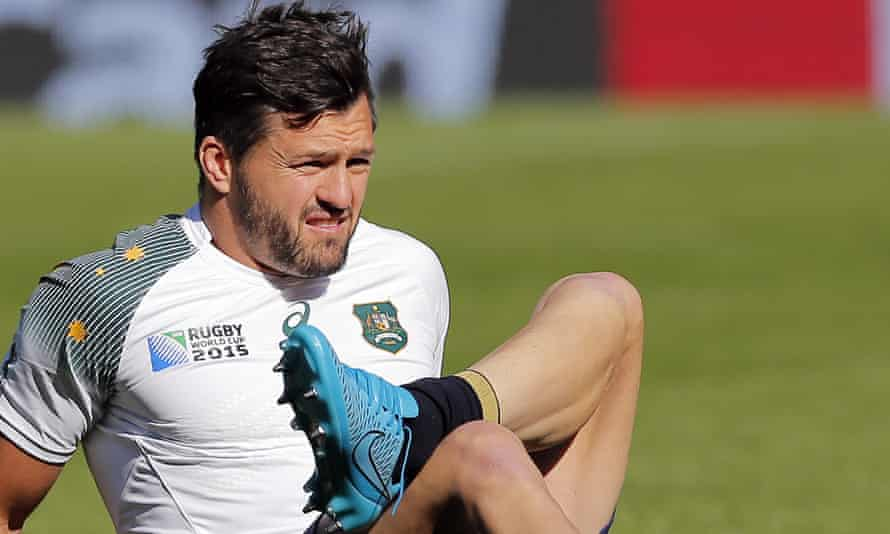 Australia's Adam Ashley-Cooper during a training session at Twickenham on Friday before the Rugby World Cup meeting with England.