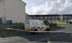 Police in Creggan Heights, Derry
