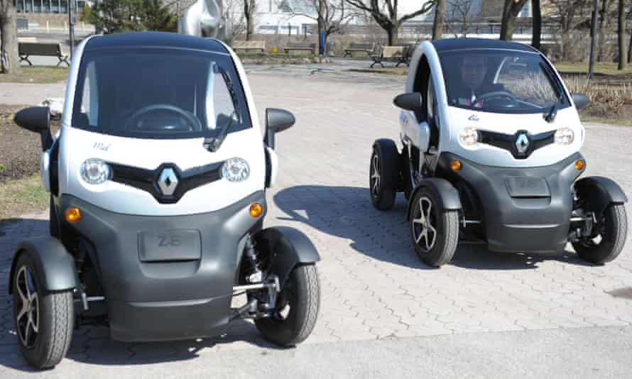 The Renault Twizy, the French automaker's first electric car in 25 years.