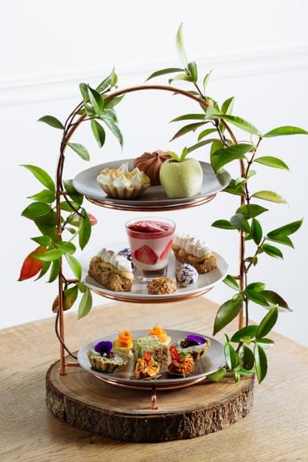 The 'high tea' at Camilla Fayed's restaurant Farmacy.