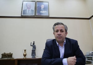 Syrian antiquities chief Maamoun Abdulkarim in his office in Damascus.