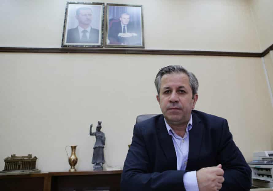Syrian antiquities chief Maamoun Abdulkarim in his office in Damascus.
