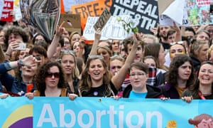 Pro-choice protesters in Ireland