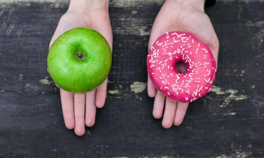 Choosing between apple and doughnut may be only part of the story.