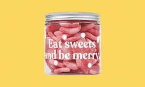 Candy Kittens vegan wild strawberry sweet jar