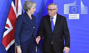 Theresa May with Jean-Claude Juncker