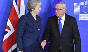 Theresa May and Jean-Claude Juncker.