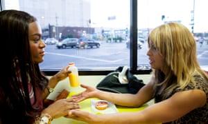 Mya Taylor and Kitana Kiki Rodriguez in Tangerine.