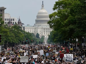 A Black Lives Matter protest inn Washington, June 2020