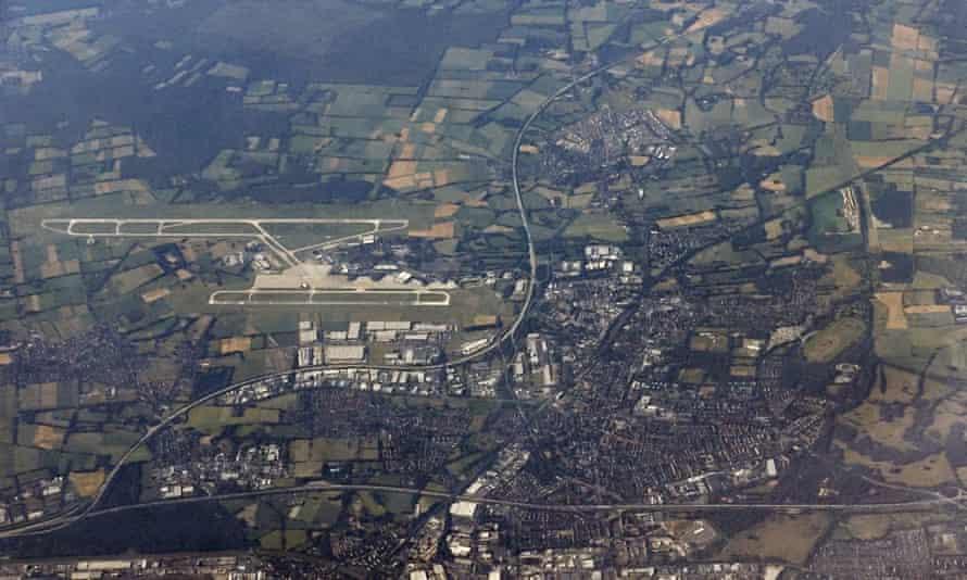 An aerial photo of Langenhagen in Germany.