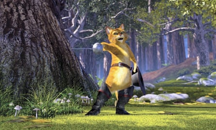 The character of Puss in Boots in Shrek 2 is voiced by Banderas.