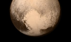 Pluto's two-toned heart, seen from the New Horizons spacecraft.