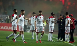 Wydad Casablanca players refuse to continue after they had a goal disallowed for offside and the VAR system was not working in the second leg against Esperance.