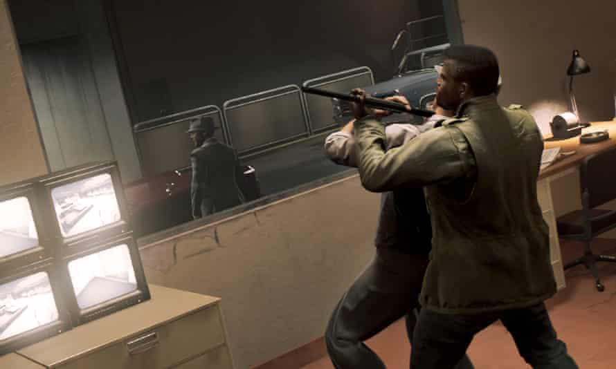 Mafia 3 screenshot showing a fight