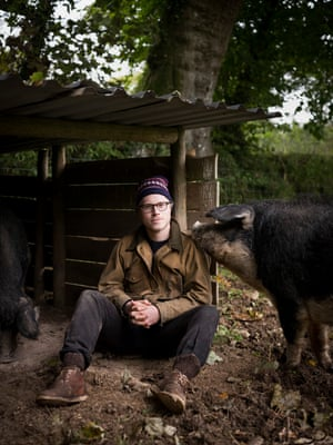 Chef Tom Adams at Coombeshead Farm