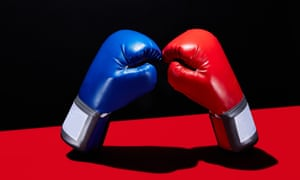 red an blue boxing gloves