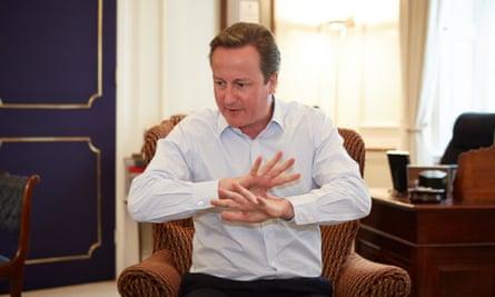 David Cameron in Doewning Street