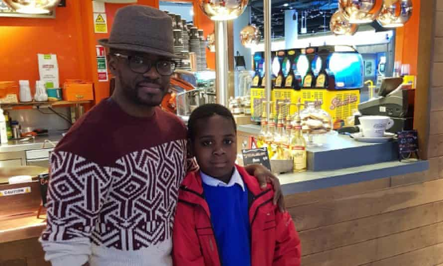 Jackson Yamba and his son