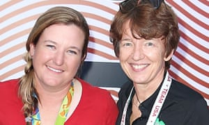 Dawn Airey (right) with US Olympian Kim Rhode at Rio 2106.