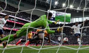Steven Bergwijn gave Tottenham the lead after 13 minutes.