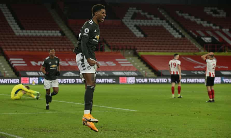 Manchester United and Rashford repeat comeback trick at Sheffield United |  Premier League | The Guardian