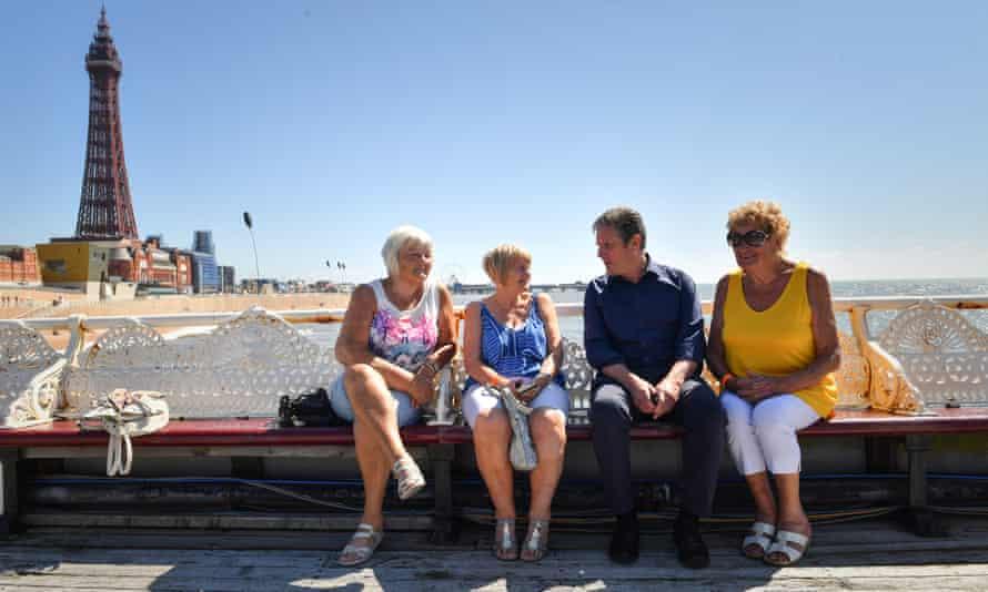Keir Starmer in Blackpool, 15 July 2021
