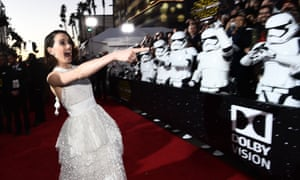 Daisy Ridley on the red carpet at the Star Wars: The Force Awakens' premiere in Los Angeles.