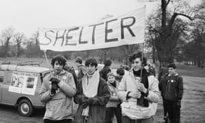 Boys on a charity walk in aid of Shelter in March 1969