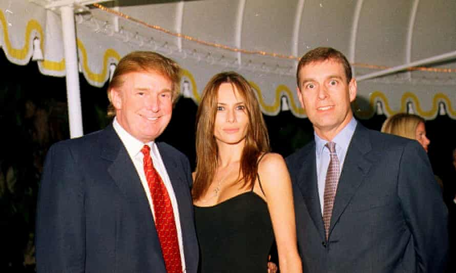 With Donald Trump and his future wife, Melania, in 2000.