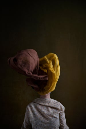 A portrait of an Iranian woman discarding her hijab by photographer Marinka Masséus