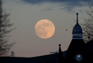 The moon appears slightly bigger and brighter than normal