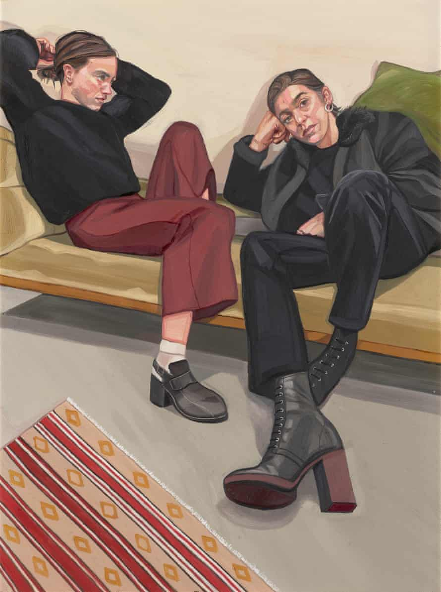 A Portrait of Two Female Painters by Ania Hobson.