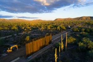 Border wall construction in Organ Pipe Cactus national monument