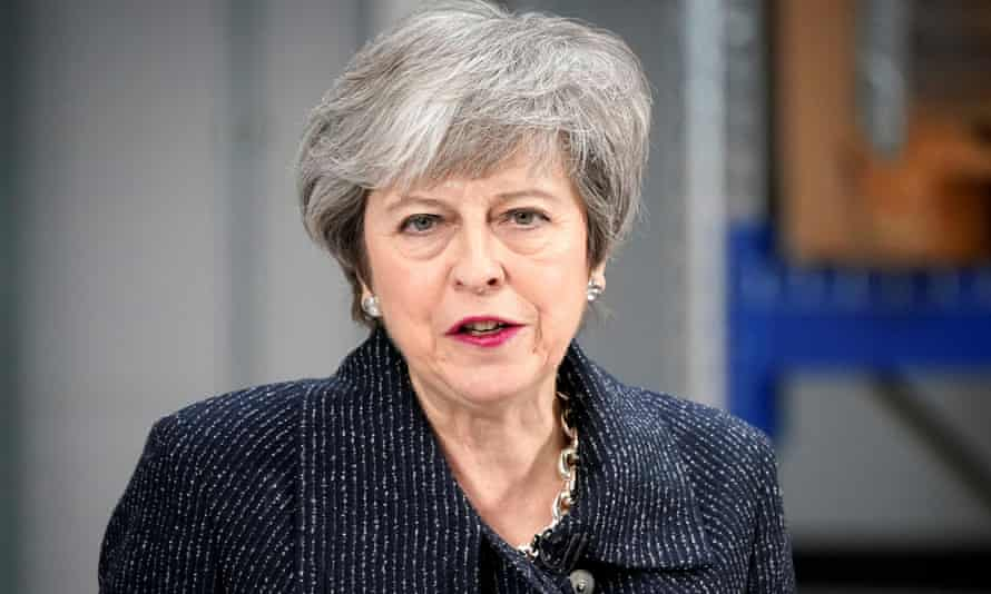 Prime Minister Theresa May speaks on Brexit ahead of next week's vote in Parliament on her revised Brexit deal in Grimsby on 8 March.