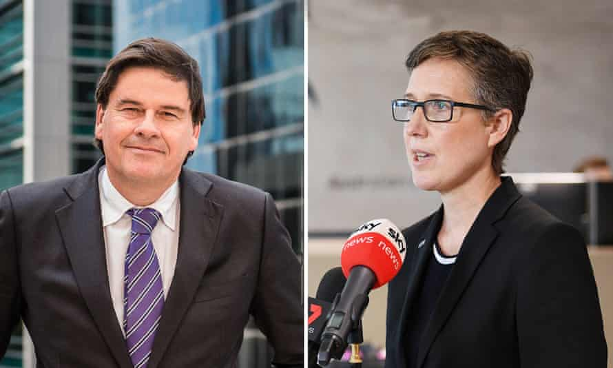 Two-way composite of Innes Willox and Sally McManus.