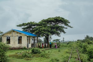 Rohingyas wait for the Sittwe-Zaw Pu Gyar train to arrive at their station, Rakhine state, Myanmar